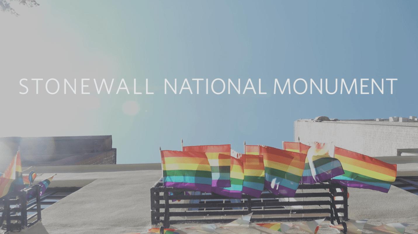 Stonewall의 국가기념물 지정당시 발표한 백악관의 영상 캡쳐