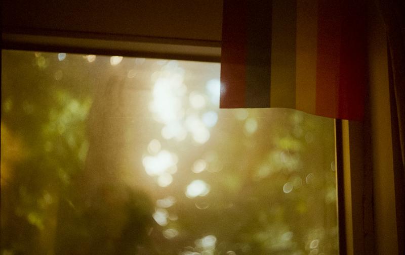 친구사이 사무실 공간에 걸려있는 무지개 걸개.