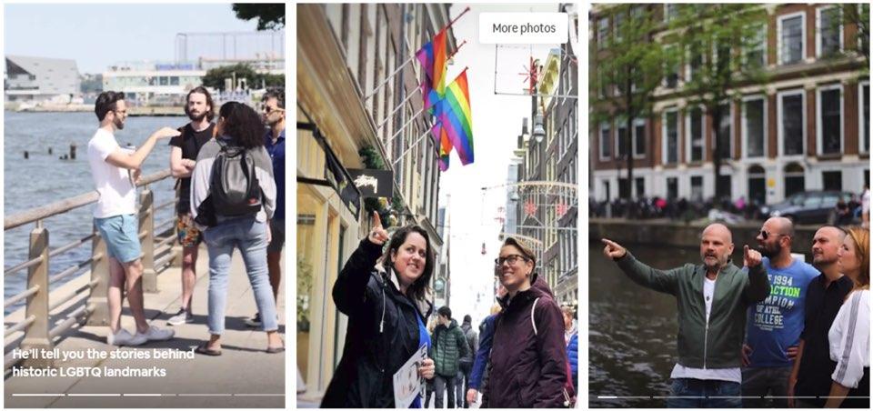 Airbnb에서 서비스 중인 '지역활동가와 함께 여행하는 LGBTQ의 역사공간' 서비스.